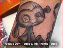 Black and White Tattoo Gallery Blue Devil